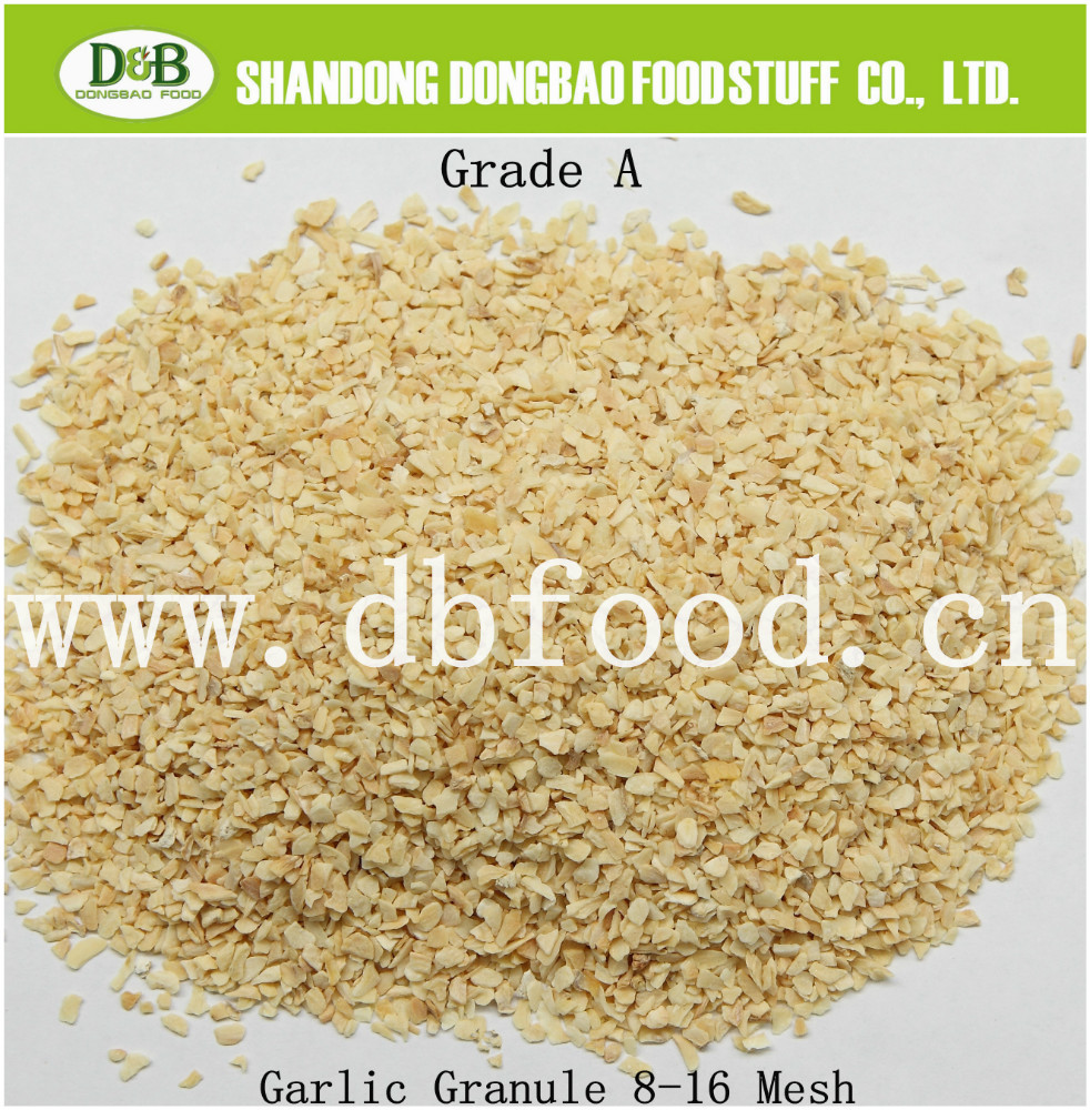 New crop Dehydrated/dried vegetables garlic granules with root 8-16 mesh