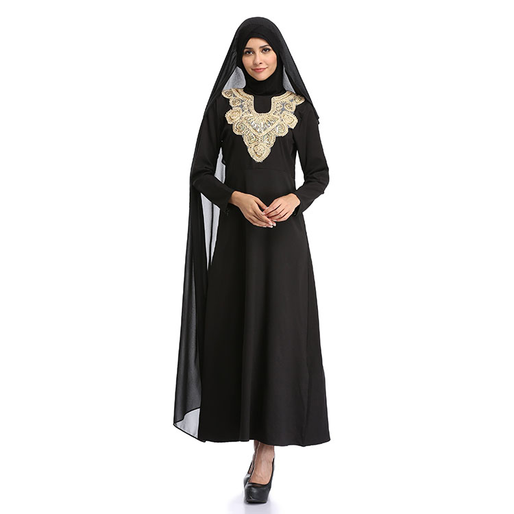 2017 Abaya In China Dubai Islamic Clothing Moroccan Kaftan Muslim Prayer Muslim Dress 2w-10