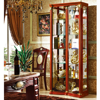 Modern Class Showcase Design Curio Collectible Wine Glass Display Cabinet