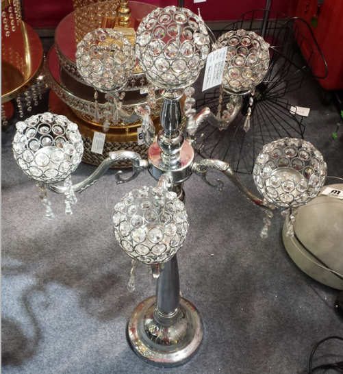 Six Arms Crystal Candle Holder Table Centerpieces For Wedding Event Hotel  Home Decorative