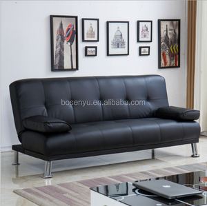 Armchair sofa bed, timeless styling leather sofa bed