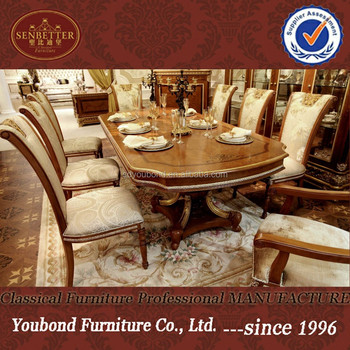 0062 Italian Royal Classic Dining Room Setswooden Dining Table And