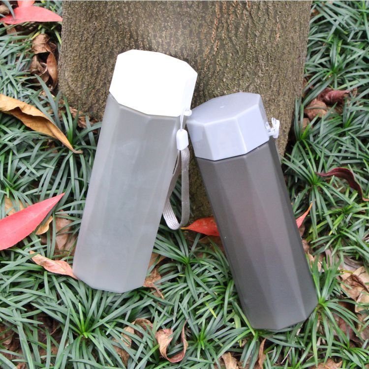 The Jianyue 380ml Portable Clear Plastic Cold Water Bottle for Wholesale