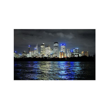 Free shipping lighted led canvas art print cityscape lighthouse,stretched and framed art work