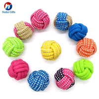 Rope Chew Toy Nuts Knots Ball Dog Toy Cotton Rope Bounce Ball Clean Pet Toys
