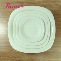 Wholesale all size promotion dishes catering small ceramic dishes with Logo decal printing
