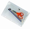 clear pen scissor stationery plastic vinyl ziplock pouch with holes