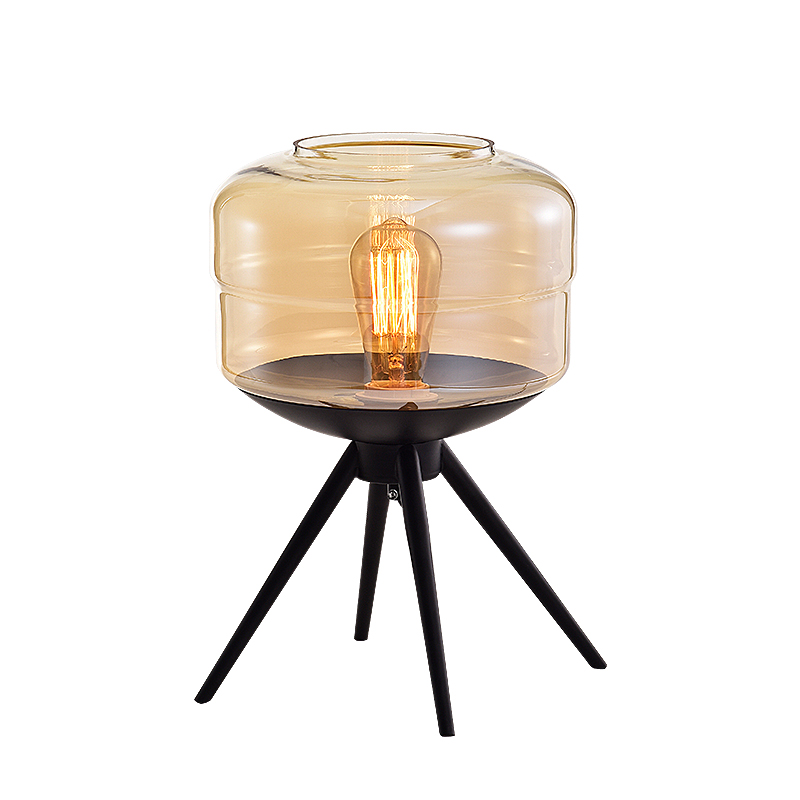 Nordic Home Hotel Metal and Stacked Glass Buffet Table lighting creative hand-blown glass ball pendant lamp
