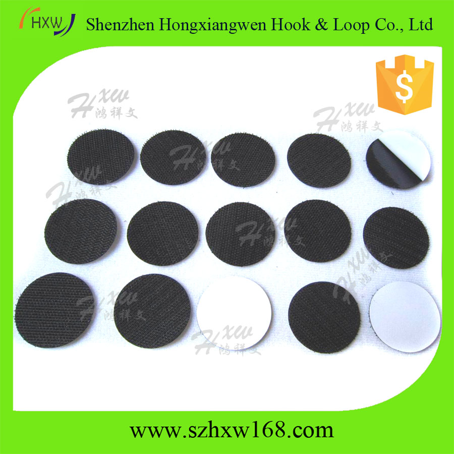 Promotional customized adhesive tape hook and loop cable tie