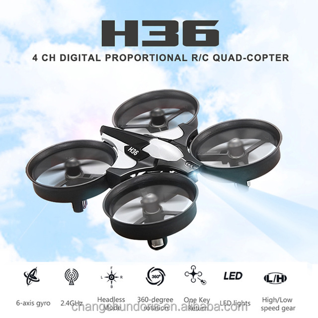 Hot selling JJRC H36 Drone with Led 6-Axis Gyro Headless Mode Mini RC Quadcopter RTF 2.4GHz One Key Return