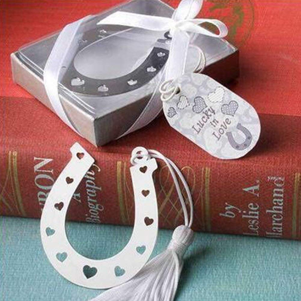 Gifts Baptism Back to Schools Supplies Silver Decoration Ice Cream Bookmark Wedding Party Guests Favors Gifts School Graduation Ceremony Craft Party Supplies Silver (Random)