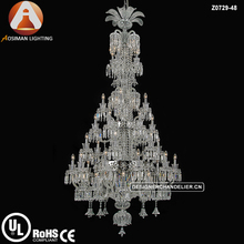 48 Light Luxury Baccarat Chandeliers with Clear Crystal