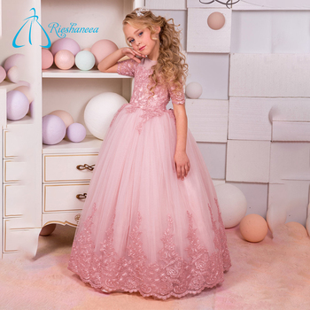 Tulle Satin Ball Gowns Designer Flower Dresses