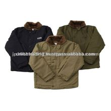 Navy Deck <span class=keywords><strong>Jacke</strong></span>, TAN Farbe Military kleidung made in japan