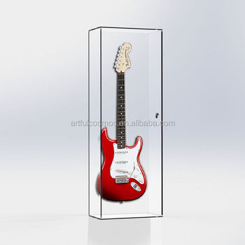 Wall Mounted Guitar Display Cabinet