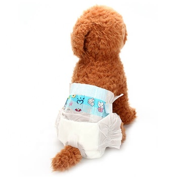 (10pcs/bag) Free Shipping Soft Non-woven Pet Physiological Pants Sanitary Cotton Underwear Nappy Disposable Diapers For Dog