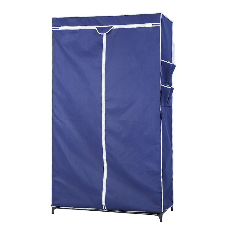 Portable Fabric home storage foldable simple non woven hanging cabinet