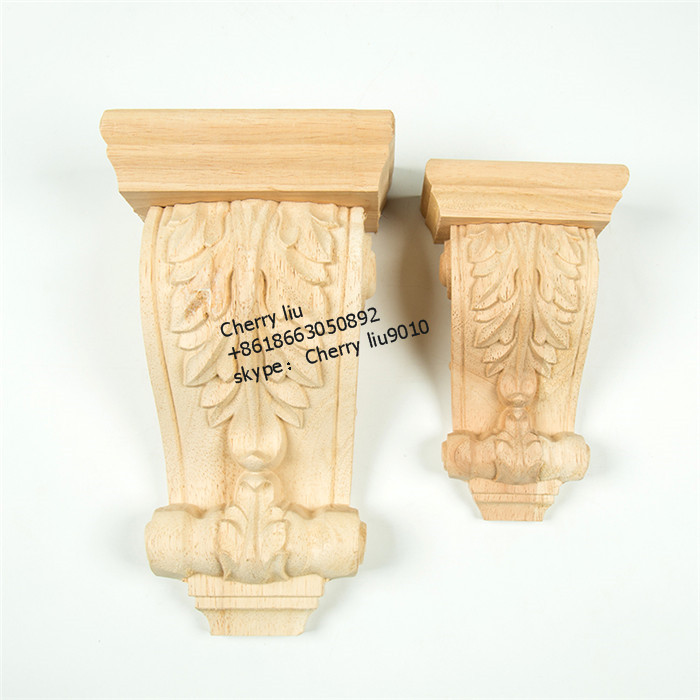decorative cheap rubber cnc wood carved corbels