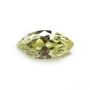Different gems 2.5x5mm 3x6mm olive yellow cubic zirconia marquise cut shape colored cz applied engagement rings