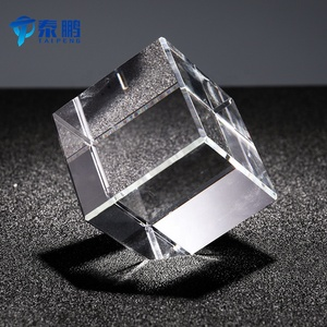 Wholesale k9 3d laser blank crystal cube paperweight for engraving 2D or 3D picture