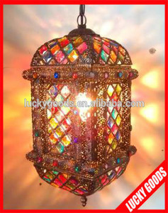 holiday decoration indoor hanging moroccan brass lantern for sale