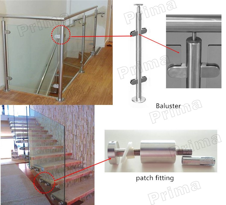 Interior Side Mounted Aluminum Glass Balustrade With Wood Handrail ...