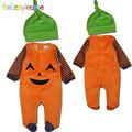 2 Piece 0 18Months Halloween Style Unisex Baby Clothes For Newborn Boys Girls Rompers Fleece Jumpsuit