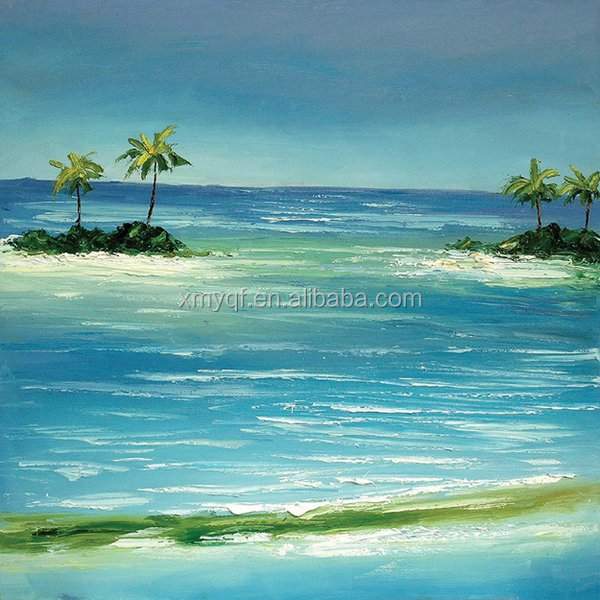 Handmade palette knife seascape canvas art oil painting for hotels bedroom cafe home living room decoration