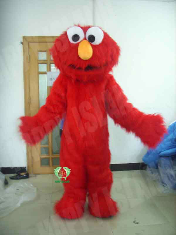 Custom animal mascot costume for sale ,Red Adult Elmo mascot costume made in China