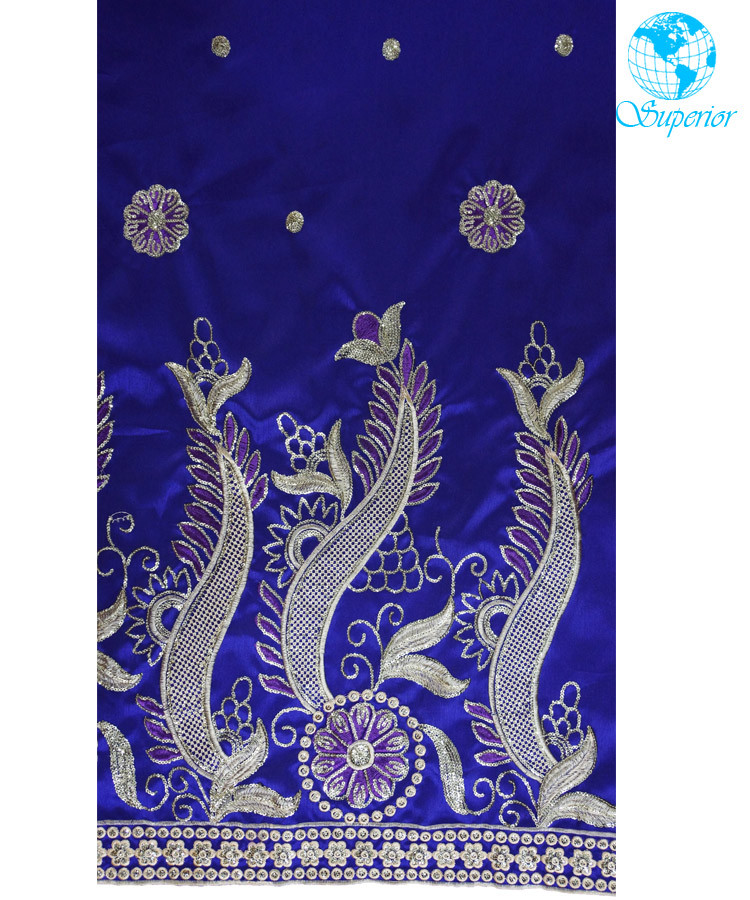 Spr-z038 Superior Turquoise Intorica George Indian Raw Silk George ...