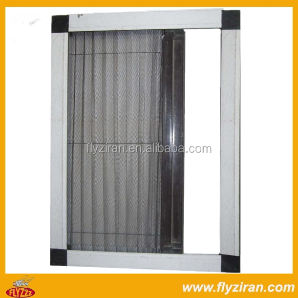 Aluminum accordion fly screen buy aluminum accordion fly for Accordion retractable screen doors