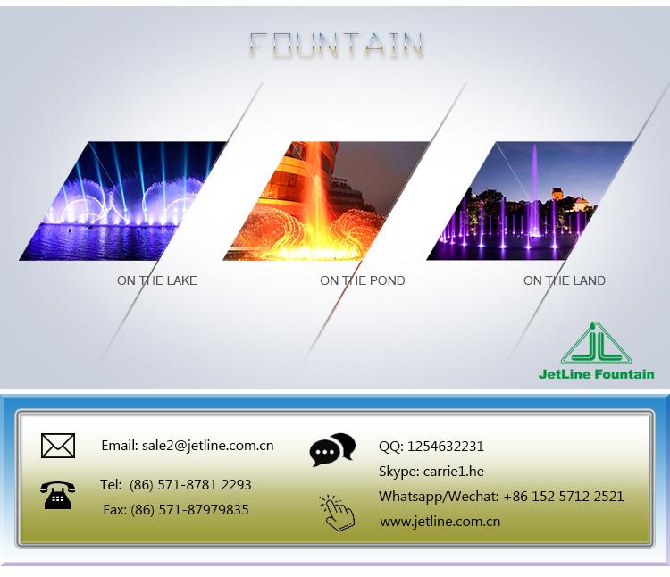 Air Besar Acara Dikombinasikan dengan Elemen Alam dan LED Light Efek Tahap Air Mancur
