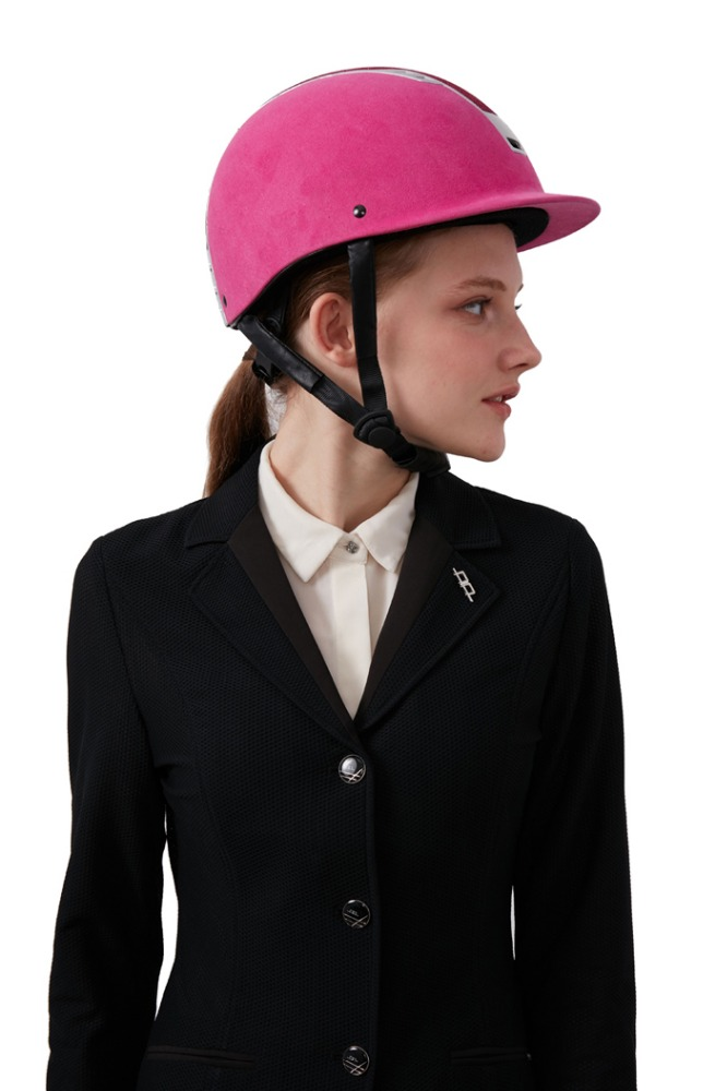 Velvet-Horse-Riding-Helmet-With-Visor