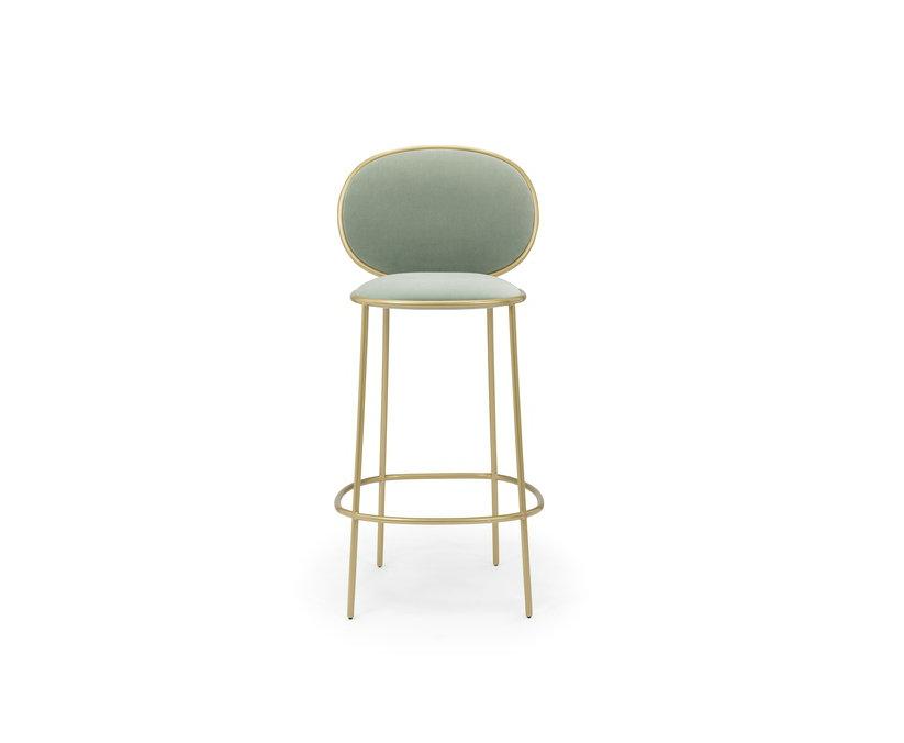 Elegante design di lusso replica mobili doro soggiorno bar sgabello