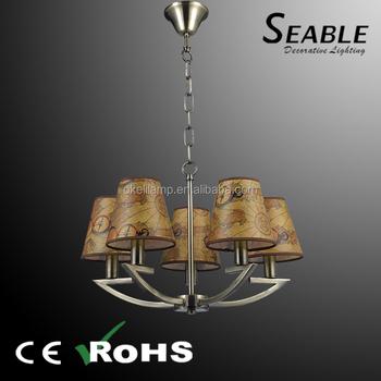 5 Heads Diy Vintage Glass Bulb Pendant Lamp