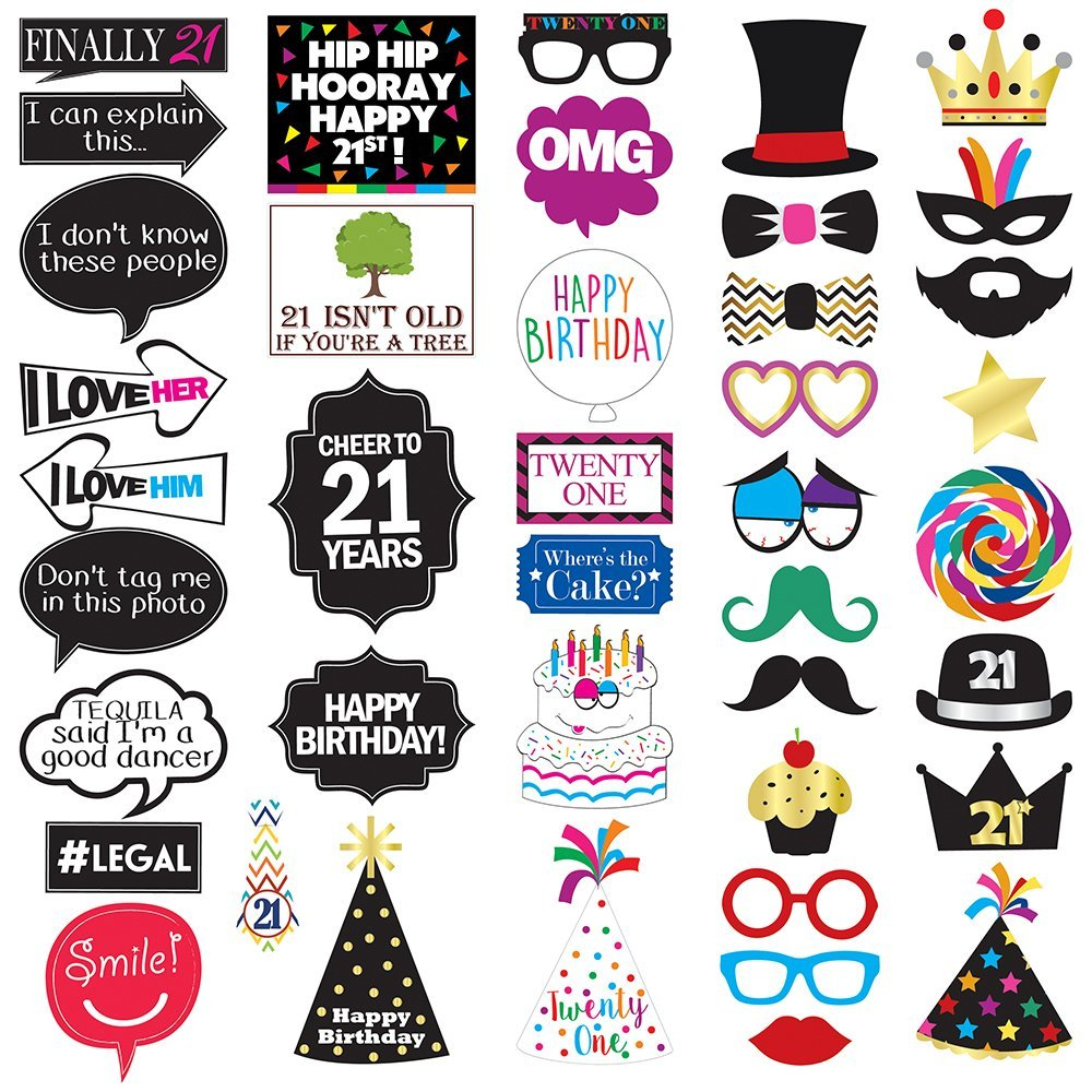 Get Quotations 21st Birthday Photo Booth Party Props