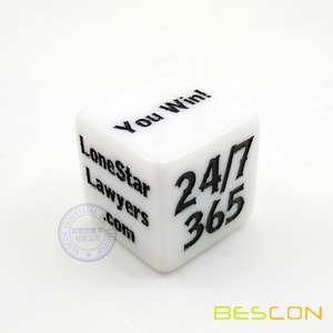 Magic Custom Loaded Dice 1inch