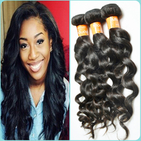 Good remy hair full cuticle no lice no smell natural color can be dyed and bleached too Mongolain loose wave human hair bundles