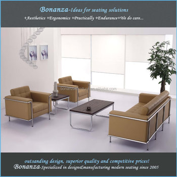 Modern Leather Office Sofa Set 8090 Modern Design Office Sofa