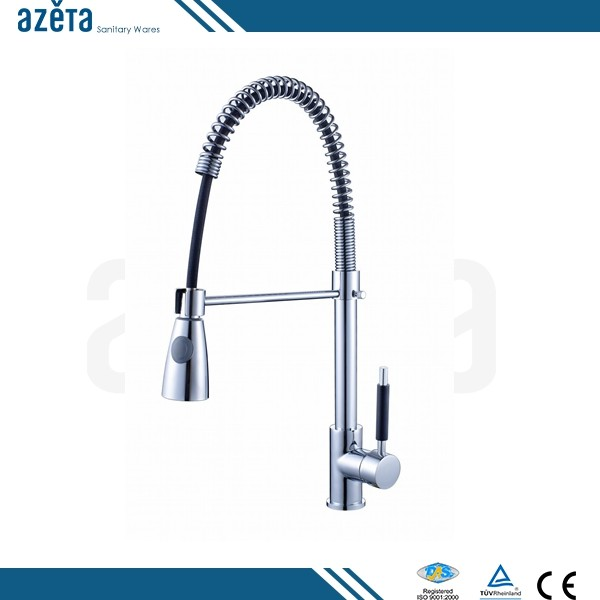 handle faucet water ridge brass flexible hose kitchen sink faucet