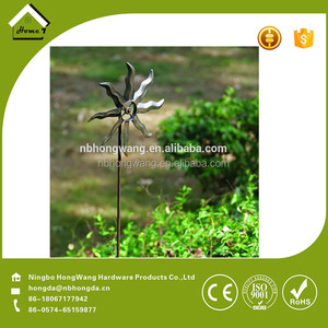 windmill stakes metal garden stake decoration ornament 2016