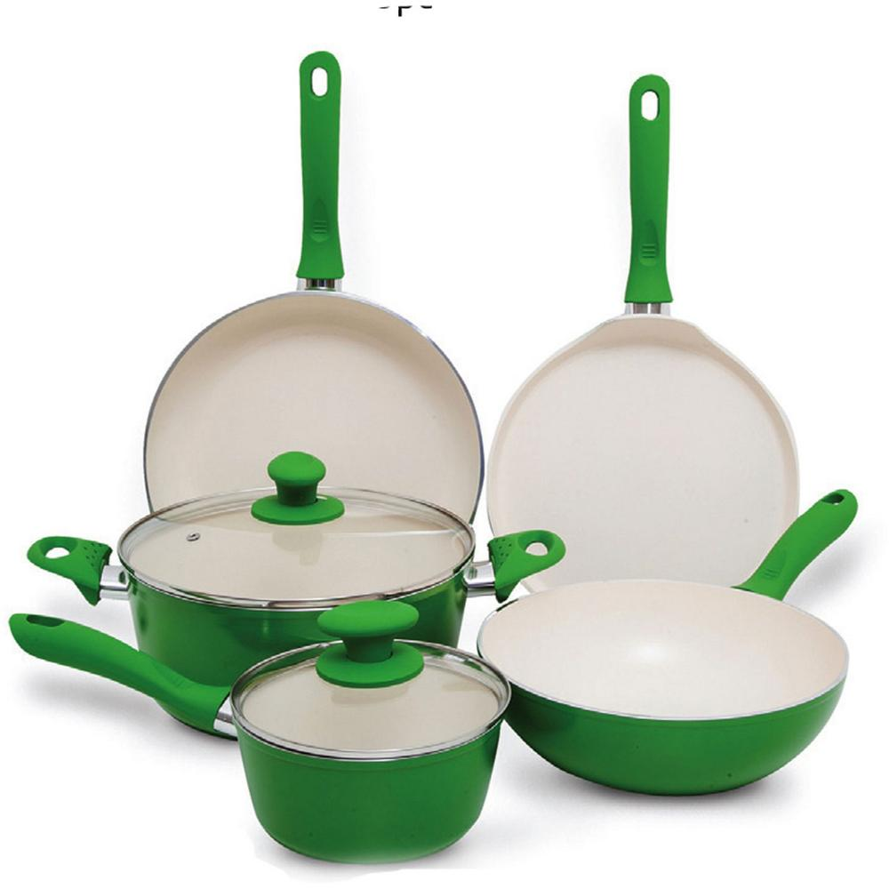 Forged Aluminum Cookware Sets Pots & Pans Kitchen cookware happy baron