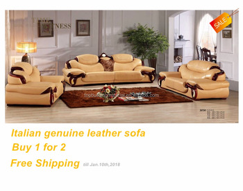 Top italian sofa genuine leather sectional sofa