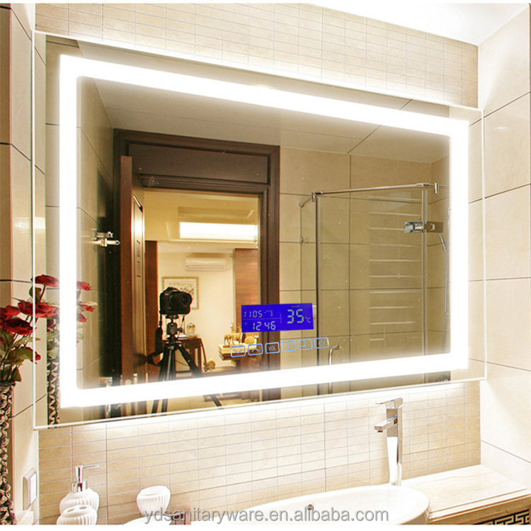bathroom mirror with lighting. Led Bathroom Mirror With Digital Clock, Clock Suppliers And Manufacturers At Alibaba.com Lighting