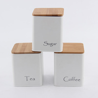 Promotion Seasonal Color Customized CeramiFinish canisters set