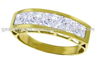 14k. Solid Gold Rings With Natural Aquamarines