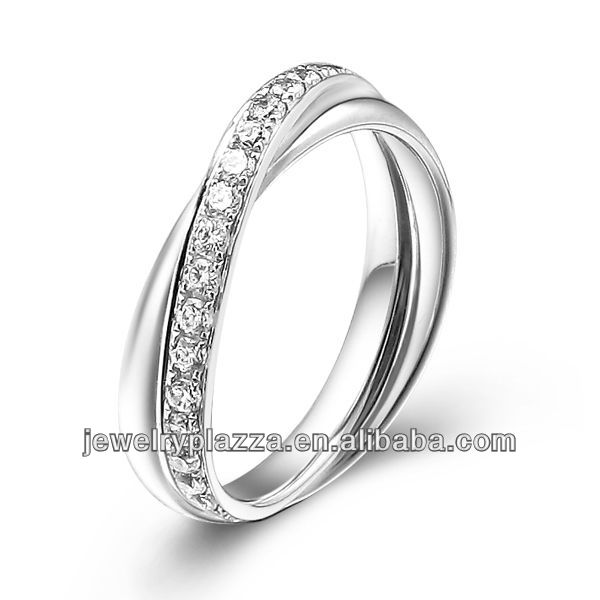 Latest 24k White Gold Ring Designs Wedding Diamond Jewelry Engagement Band And Fine Jewellery Product On