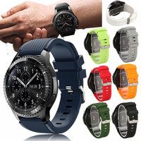 Hot Selling Multi Colorful Cheap Rubber Silicone Watch Strap for Samsung Gear S3 Classic and Frontier
