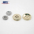 High quality four hole gold metal coats buttons for fashion clothes