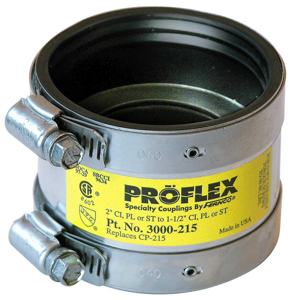 Fernco Inc. P300-215 2-Inch by 1-1/2-Inch Proflex Coupling